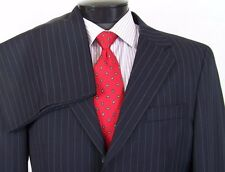 FERRETTI UOMO Suit Men's Dark Blue Pinstripe Super 100's Size 44