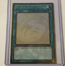 Yu-Gi-Oh! Mystical Space Typhoon GLD5-EN038 Ghost Rare Gold Ltd Edition Nr Mint