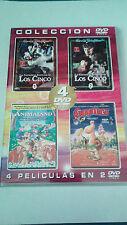 """DVD """"LAS FANTASTICAS AVENTURAS DE LOS CINCO (6 CAPITULOS) / GOOMER / ANIMALAND"""""""