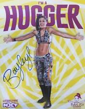 WWE WRESTLING HAND SIGNED BAYLEY NXT WOMENS WWF OFFICIAL PHOTO POSTER AUTOGRAPH