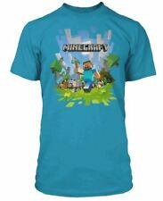 Minecraft T-shirt Mine Craft Tshirt | Official | ADVENTURE LOGO | Youth | 12-13