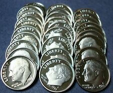 1965 THRU  2007-S  43 YEAR RUN 43 DIFFERENT DATES OF NEW PROOF ROOSEVELT DIMES