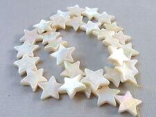 20 STERN Perlmutt Perle weiß creme 12 -13 mm Weihnachten Basteln 2402
