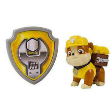 Paw Patrol Action Pack Pup & Badge Shield Dog Backpack Projectile Toy-Rubble New