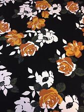 3.0M LIVERPOOL CREPE Rustic Floral Print Jersey Stretch Fabric Material [813]