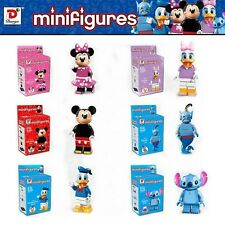 6 Pcs Donald Duck Stitch Mickey Mouse Minifigures Building Blocks Toys Kids Gift