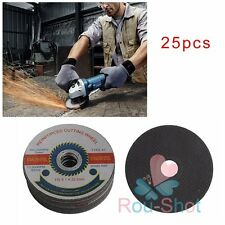 "25 Pack 115mm/4.5"" Cut-off Wheels Metal Stainless Steel Cutting Discs Thin Blade"