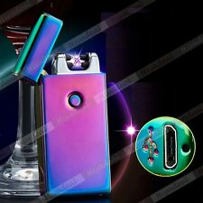 Dual Arc Cigarette Lighter USB Rechargeable Electric Beam Plazma Plush Torch ISC