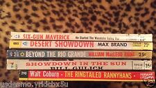 Western book lot of 5 Popular Library1950's Westerns Max Brand Philip Ketchum