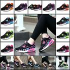 WOMENS LACE UP SHOCK ABSORBING RUNNING TRAINERS SPORTS SHOES CASUAL SNEAKERS