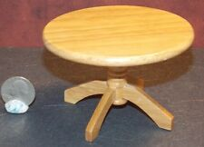 Dollhouse Miniature Oak Round Kitchen Table 1:12 inch scale D44 Dollys Gallery