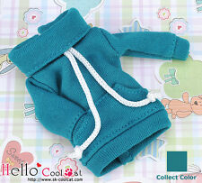 ☆╮Cool Cat╭☆ 122.【NH-A16】Blythe Pullip Thick Cloth Pocket Top # Teal
