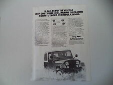 advertising Pubblicità 1981 JEEP CORPORATION CJ 7