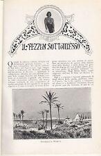 ZOLI CORRADO IL FEZZAN SOTTOMESSO 1914 ESTRATTO IL SECOLO