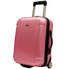 "Traveler's Choice Pink Freedom 21"" Carry-on Rolling Luggage Suitcase Travel Bag"