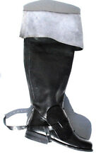 Bucket Top Boots Historical Reenactment Theatre Size 8 100% Leather