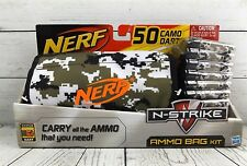 NERF N-Strike Ammo Bag Kit  50 Camo Whistler Darts & Ammo Bag NEW NIP