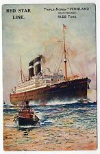 RED STAR LINE SS PENNLAND PC Postcard SS PITTSBURGH American Line LINER Ship