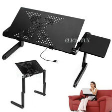 Portable Laptop Desk Notebook Stand Table Cooling Fan with Mouse holder Sofa Bed