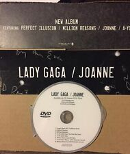Lady GAGA promo sticker + Free DVD Million Reasons Perfect Illusion Super Bowl