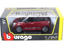 BBURAGO 18-22126 FIAT 500L 1/24 DIECAST MODEL CAR RED