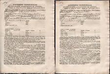 GOVERNO PONTIFICIO-DUE CONTRATTI DI MEZZEDRIA SERRA DE CONTI-ANCONA-1852
