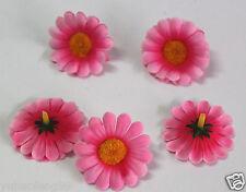 10pcs pink heronsbill Artificial Silk Flower 4cm for Hair clip Wedding