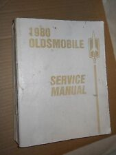1980 Oldsmobile Chassis Service Manual (1979, Paperback, Illustrated