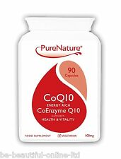 90 Co-Enzyme CoQ10 100mg to support wellbeing of heart liver skin body Veggi cap