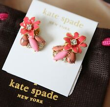 Kate Spade NY Glossy Petals Cluster Stud Earrings WBRUA264 NWT $68 Jewelry Pouch