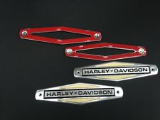 NEW 1966-1971 HD HARLEY DAVIDSON GAS TANK EMBLEM Emblems  w/MOUNTING KIT