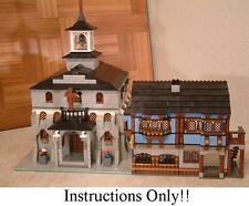 GET 100+ CUSTOM LEGO  INSTRUCTIONS like Medieval Church great for 10193 Market