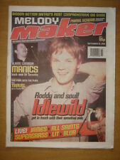 MELODY MAKER 1999 SEP 18 IDLEWILD MANICS JAMES LIT BLUR