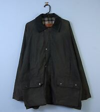 Vintage Wax Jacket In Dark Green Cord Collar Waterproof Jurgen Loesdau X-Large