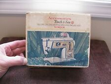 1968 Vintage Singer Touch & Sew Sewing Machine Model 630 Accessories (31 Pcs)
