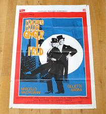 GINGER E FRED poster manifesto Marcello Mastroianni Giulietta Masina Fellini