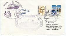 1988 Belgian Participation Epos I FS Polarstern Polar Antarctic Cover SIGNED
