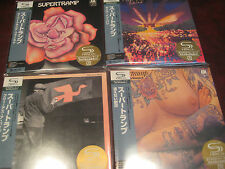 SUPERTRAMP AUDIOPHILE SHMCD JAPAN REPLICA OBI CD SET 4 TITLES LIMITED EDITION