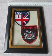 (2) London Coat of Arms Vintage Cloth Embroidered Patches / Hiker Biker Jacket
