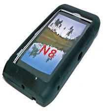Silikon TPU Handy Cover Case Hülle Schale Schutzhülle in Schwarz für Nokia N8