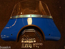 NEW VESPA PX AND LML T5 MOD BLUE  WIND FLY SCREEN WINDSCREEN ITALIAN MADE