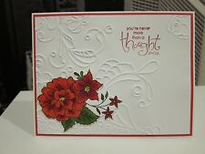 "DIY Stampin Up ""You're Never More Than A..."" Sympathy Handmade Card Kit- 4 cards"