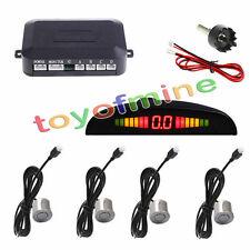 4 sensores del estacionamiento de pantalla LED del revés del coche 230cm Plata