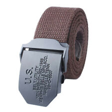 Delicate Men Canvas Belt Fabric Belt With Metal Buckle Military Utility Belts
