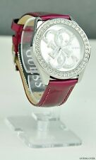 NWT Ladies Watch GUESS Violet Classic Leather New U0208L3