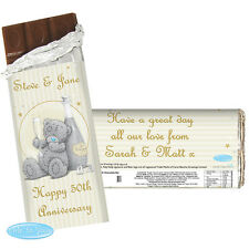 Personalised Me To You Bear Gold Stars Chocolate Bar Engagement Wedding Gift