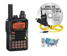 Yaesu VX-6R Tri-Band Hand-Held Radio with RT Systems Prog. Software/Cable Kit