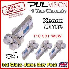 4 x 8 WHITE SMD LED 501 T10 W5W WEDGE CANBUS NO ERROR FREE SIDE LIGHT BULB