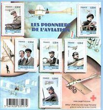 FEUILLET N° F4504 NEUF XX  LUXE - LES PIONNIERS DE L'AVIATION - CROIX ROUGE