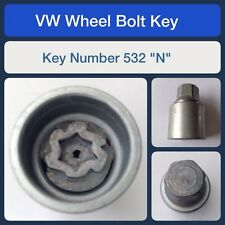 "Genuine VW Locking Wheel Bolt / Nut Key 532 ""N"""
